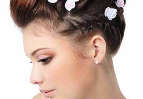 hawaiian style hair themed wedding hairstyles images 5491
