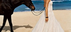 Beach Wedding Dresses for Exotic Themed Bridal