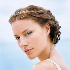 Beach Wedding Hairstyles Flowers Tiara