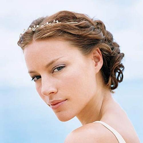 Beach Wedding Hairstyles Flowers Tiara