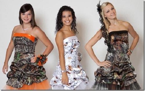 Camo Prom Dresses 2013 Short
