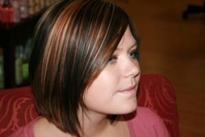 Dark Brown Hair with Highlights Underneath