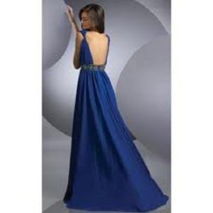 Deep V Neck Prom Dress 2013