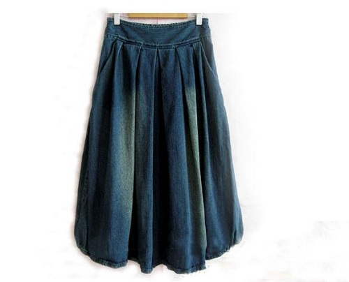Denim Skirts for Women Long