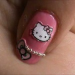 Hello Kitty Nail Designs Short Nails 2013