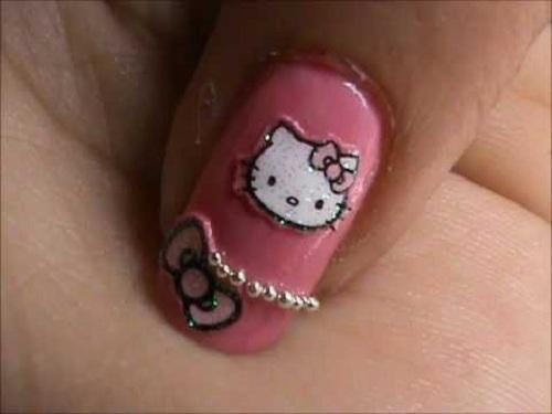 Hello Kitty Nail Designs Short Nails 2013