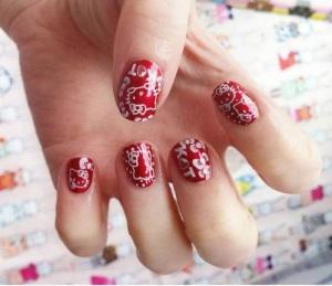 Hello Kitty Nail Designs Short Nails Red