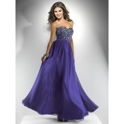 Long Purple Prom Dresses under 100