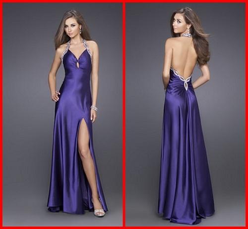 Long Purple Prom Dresses under 200