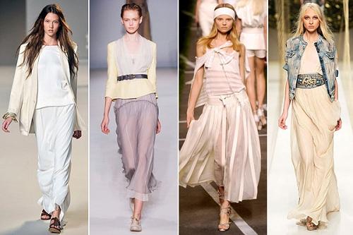 Long Spring Skirts Models
