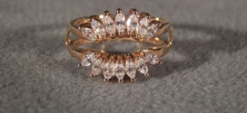Marquise Ring Wraps Yellow Gold for Bridal