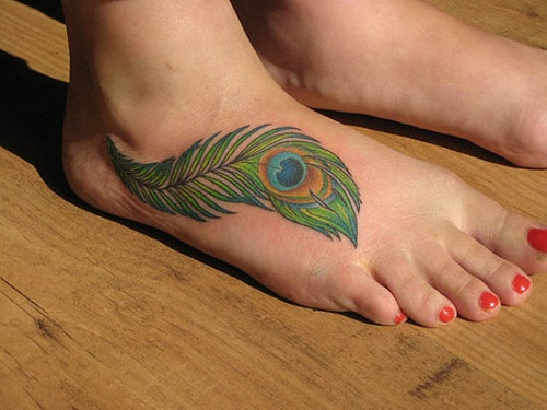 Peacock Feathers Tattoos Ideas