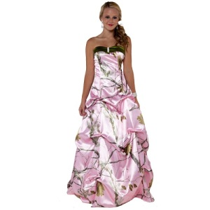 Pink Camo Dresses for Prom Designs