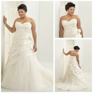 Plus Size Beach Gowns for Bride