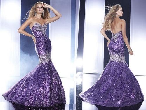 Purple Mermaid Dresses Images