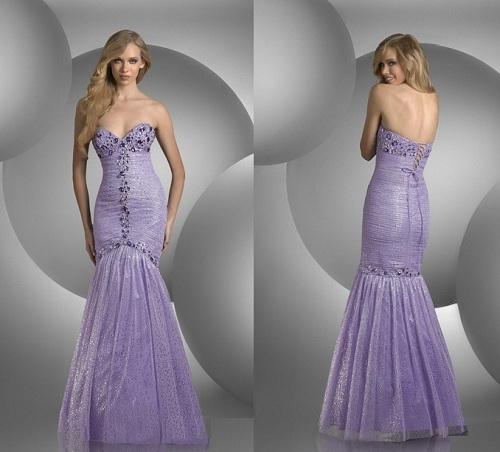 Purple Mermaid Dresses Photos