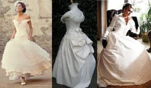 Victorian Inspired Wedding Dress Ideas are generally designed in ivory and off-white color scheme. This gown is very romantic and elegant to wear in wedding