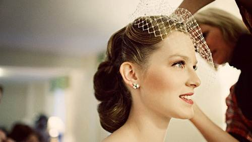 Wedding Hairstyles Retro Bride