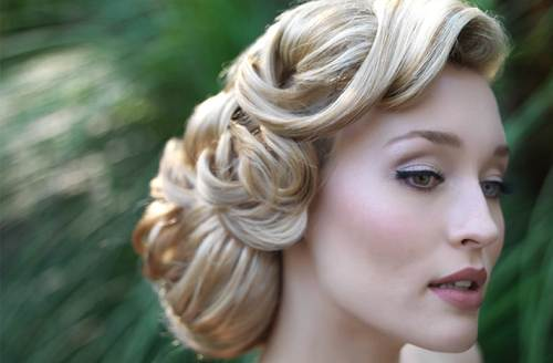 Wedding Hairstyles Retro Styles