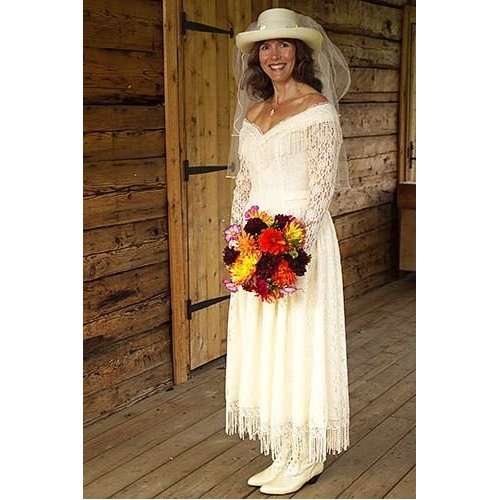 Western Wedding Dress for Women