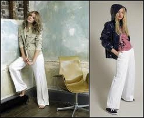 White Linen Pants Outfits Images