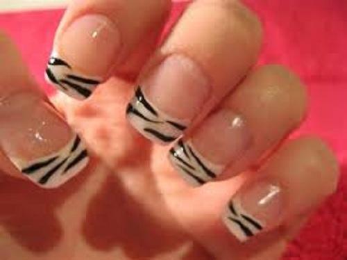 Zebra Print Nails Designs