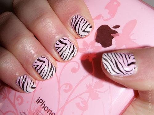 Zebra Print Nails Pictures