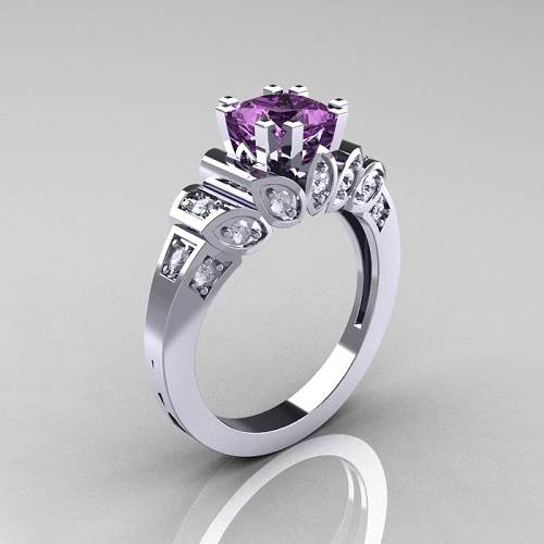 Amethyst Engagement Rings UK