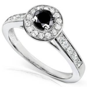 Black Engagement Rings Cheap
