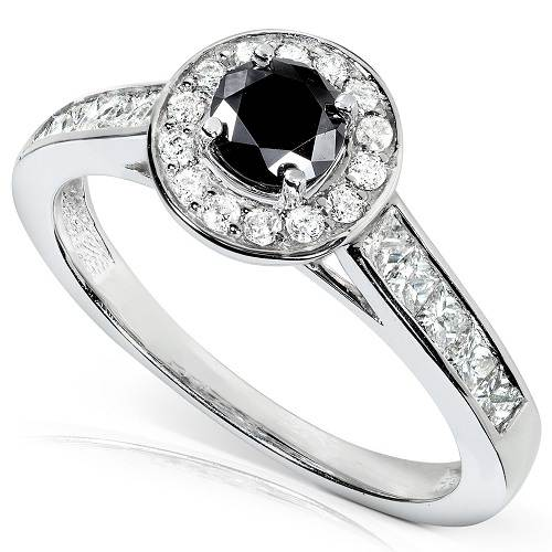 Black Engagement Rings Cheap