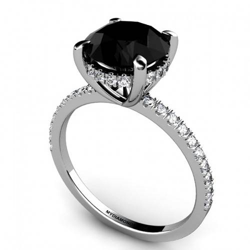 Black Engagement Rings Diamond