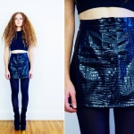 Black Vinyl Mini Skirt 2013