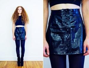 Black Vinyl Mini Skirt 2013