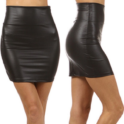 Black Vinyl Mini Skirt Designs