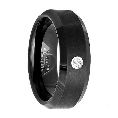 Black Wedding Bands with Diamonds