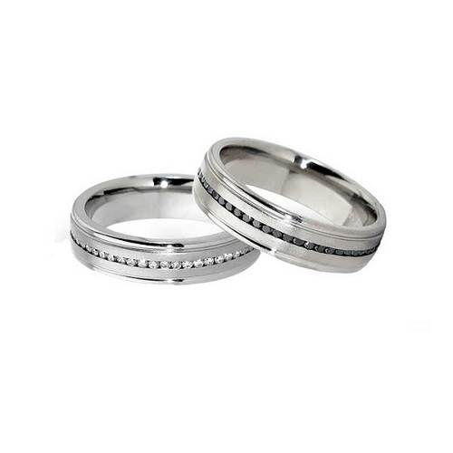 Black and White Wedding Bands for Cheap