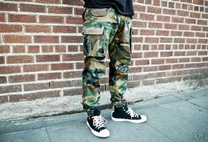 Boys Camo Cargo Pants Army