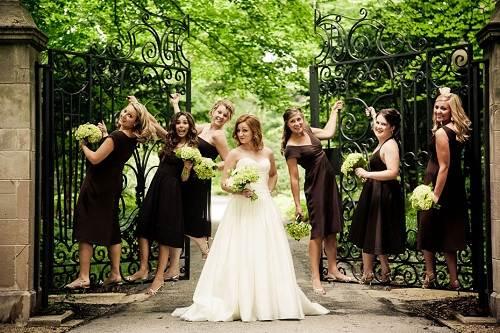 Brown Bridesmaid Dresses with Sleeves