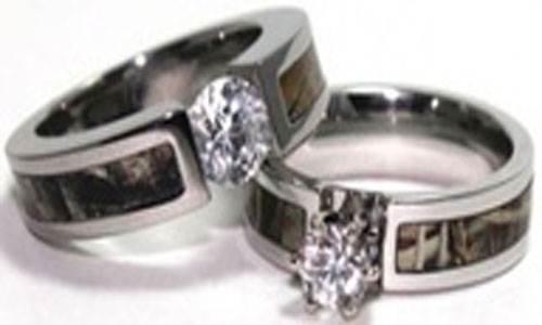 Camo Diamond Wedding Band Styles