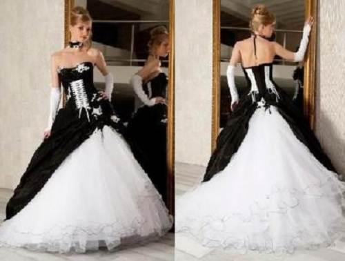Cheap Black N White Wedding Dresses: Corset Wedding Dresses Black And White Gallery