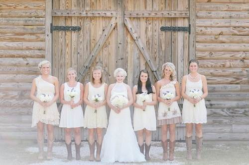 Country Chic Wedding Bridesmaid Dresses 2013
