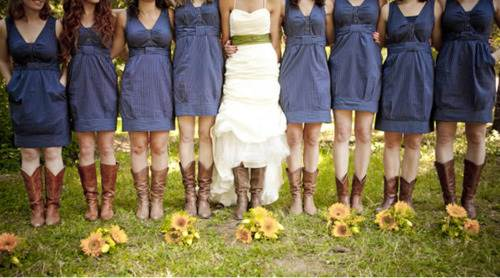 Country Wedding Dresses with Cowboy Boots Samples