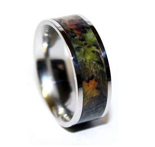 Custom Camo Wedding Rings 2013