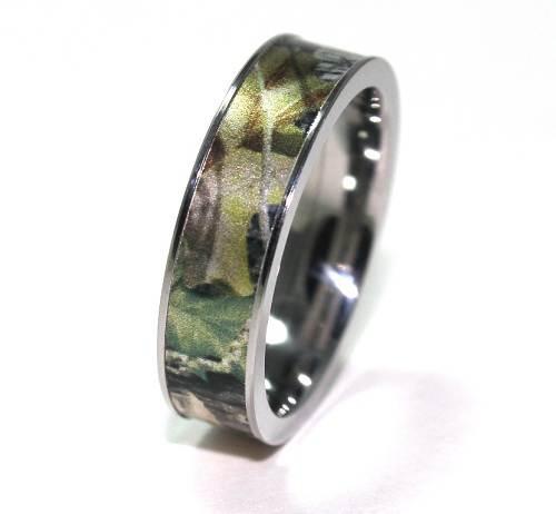 Custom Camo Wedding Rings Images