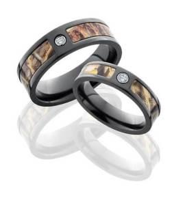 Diamond Camouflage Wedding Rings Ideas