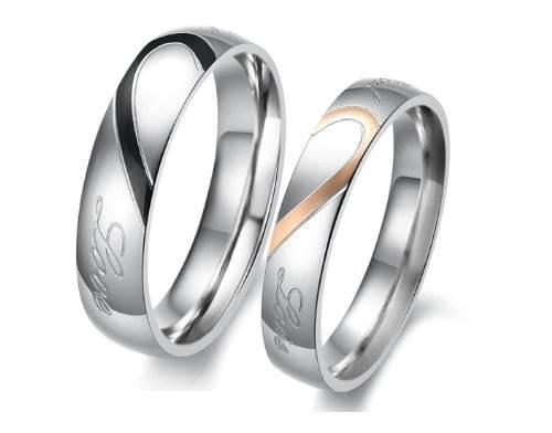 Engraved Promise Rings for Men Couple