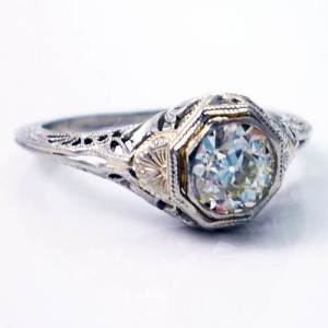 Etsy Art Deco Engagement Ring Design