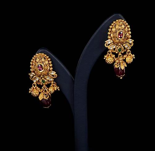 Gold Earring Designs with Price