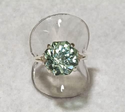 Green Amethyst Wedding Ring 2013