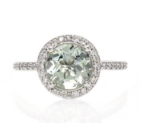 Green Amethyst Wedding Ring Cheap